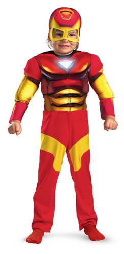 Iron Man Toddler Muscle Costume,Medium (3T-4T)
