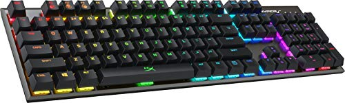 HyperX Alloy FPS RGB - Mechanical Gaming Keyboard - Compact Form Factor - Software-Controlled Light & Macro Customization - Fast & Linear - Silver Speed Switches - RGB LED Backlit (HX-KB1SS2-US)