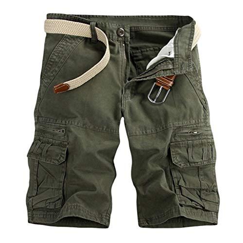 (TOTOD Plus Size Multi Pockets Cargo Shorts for Men - Boyfriend Camo Outdoor Pants Casual Workout Hiking Trunks)