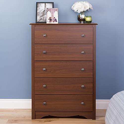 Amazon Com Cherry Monterey 5 Drawer Chest Furniture Decor