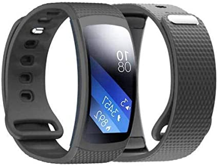 Linkshare Compatible Gear Fit 2 Pro/Fit 2 Band, Replacement Silicone Accessories Strap Samsung Gear Fit 2 Pro SM-R365/Gear Fit 2 SM-R360 Smartwatch ...