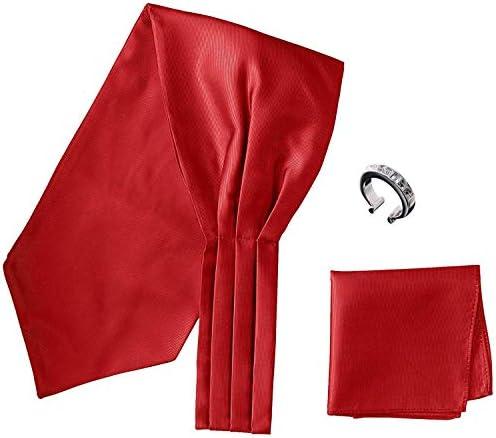 アスコットタイ・ポケットチーフ・タイリング マイクロポリ採用 チーフ メンズ タイリング:No.6 チーフ/タイ(タイプ/カラー):Red-B