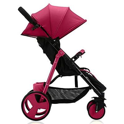 BBZZZ-bike Bébé panier Portable Light Umbrella Car bébé Winter Trolley pouvez vous asseoir Peut Lie Fold Carriage bébé Matériel de protection de l'environnement