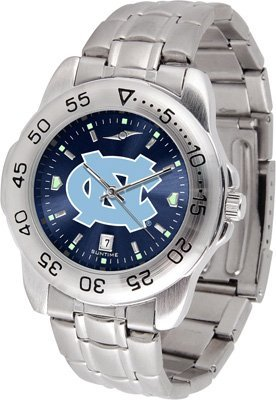 Heels Tar Watch (North Carolina Tarheels Stainless Steel Men's Sport Watch)