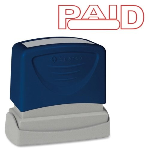 Sparco Products 60022 PAID Title Stamp, 1-3/4