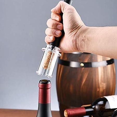 Chenhan Abridor Botellas Sacacorchos de Vino neumático Sacacorchos de cacerolero Automático Abrector de Vino APPLEABLE APPLEER Portátil Tarro abridor (Color : Corkscrew)