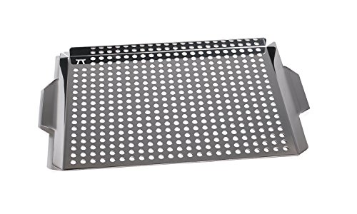 Stainless Steel Large Grill Grid (Seafood Grill Basket compare prices)