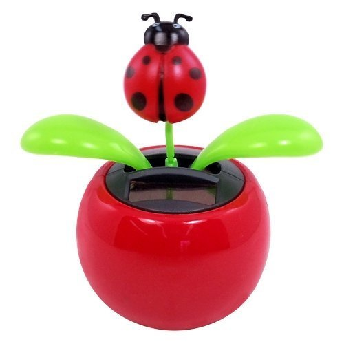 One Solar Powered Dancing Lady Bug Flower by Warm Fuzzy Toys