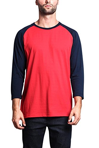 Victorious Men's Baseball T-Shirt TS900 - RED/Navy - ()