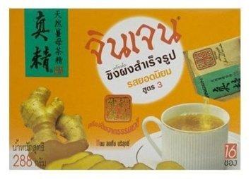 Gingen Instant Ginger Beverage Formula 3 Popular Flavor 288g. (18g.x16 Sachets)