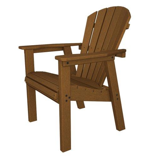 (POLYWOOD SHD19TE Seashell Casual Chair, Teak)