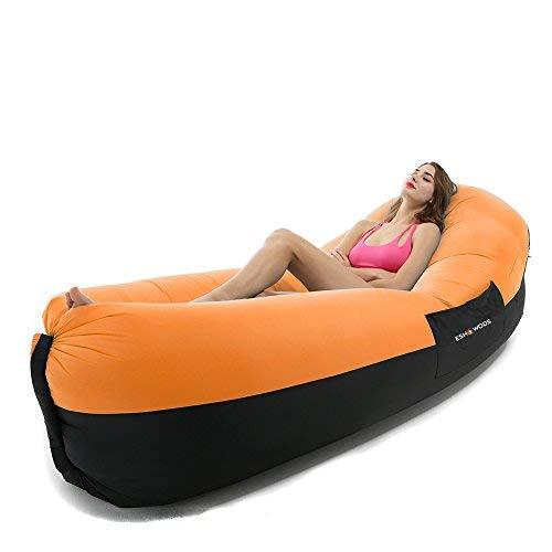 ESHOWODS Tumbona Hinchable para Dormir, sofá, Cama de Aire ...