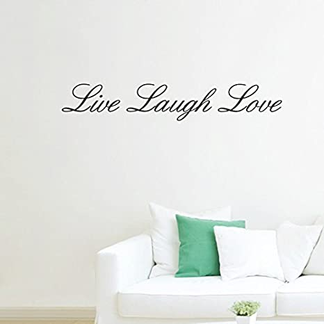 Cutecabbage Live Laugh Love Removable Wall Stickers Home Decals Decor Quote Art Vinyl Diy Wall Stickers Murals Amazon Canada
