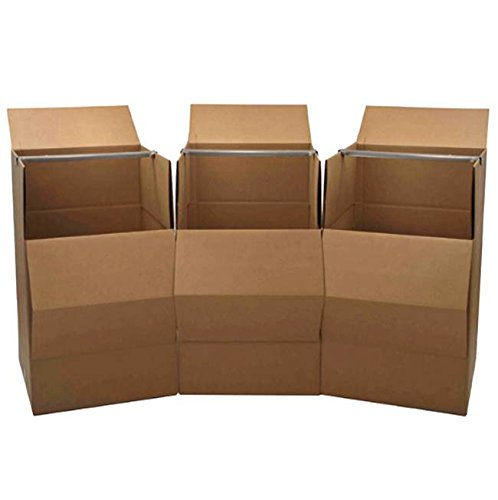 Wardrobe Moving Box, 3-Pack