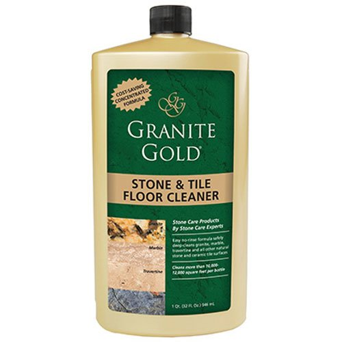 Granite Gold Stone & Tile Floor Cleaner concentrated no-rinse marble floor cleaner, travertine floor cleaner, slate floor cleaner, granite floor cleaner, tile floor cleaner,  32 (Gold Granite)