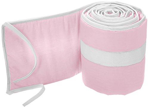 Babykidsbargains Stripe Cradle Bumper, Pink/White, 18'' x 36'' by babykidsbargains