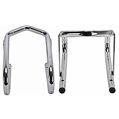 Extreme Max 5001.5763 Deluxe Chrome Motorcycle Wheel Chock - 5.5
