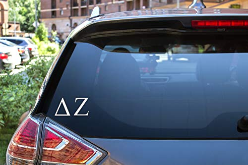Delta Zeta Sticker Greek Sorority Decal for Car, Laptop, Windows, Officially Licensed Product, Monogram Design 2.5