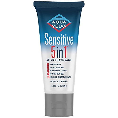 Aqua Velva Sensitive 5 in 1 After Shave Balm, 3.3 (Electric Shaver Lotion)