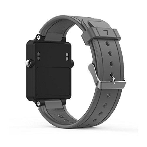 古墳交換シリコンリストバンドブレスレットバンド交換用for Garmin vivoactive Acetate Watch パープル 4N80220-GY_LYA グレー グレー B079GQDTL3