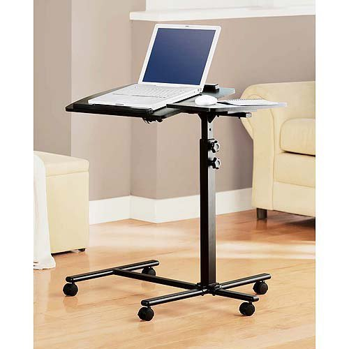 Deluxe Laptop Computer Mobile Cart / Table / Stand - Black by Mainstays (Laptop Cart Deluxe)