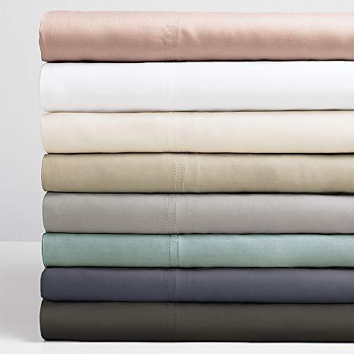 Cariloha Resort Bamboo Sheets 4 Piece Bed Sheet Set - Luxurious Sateen Weave - 100% Viscose from Bamboo Bedding (King, White)