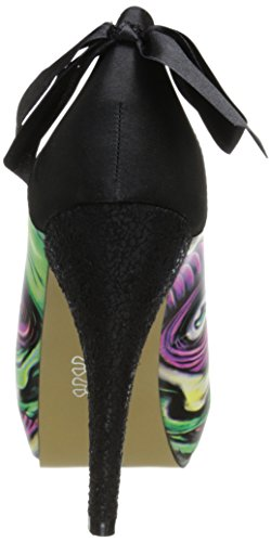 Iron Fist Skin Crawler Peep Toe Platform - punta abierta de cuero mujer Turquesa - turquesa