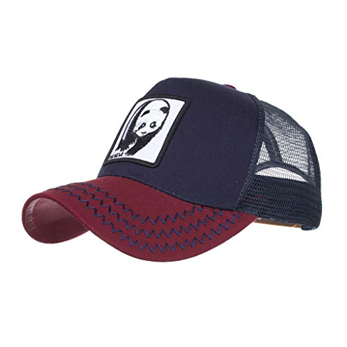 adb917a1e Caps for Unisex- Outdoor Animals Embroidered Visor Travel Sun Hat Sunscreen  Breathable Mesh Hats Baseball Caps (C, 21.25-24.40