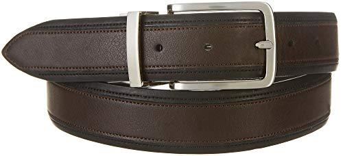 Boca Classics Mens 35mm Reversible Soft Touch Belt 32W Black/brown ()