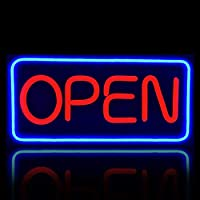 """MontexLED Open Sign Super Bright 20"""" x 10"""" Business Store Front Signs with 5 Foot Cord, for Windows, Shops, Bars, Clubs and Cafes"""