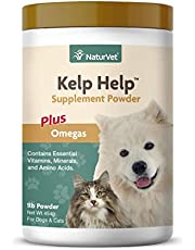 NaturVet Kelp Help Plus Omegas for Dogs and Cats, 1 lb Powder, Made in USA
