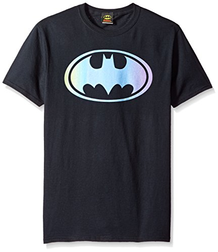 Wicked Tees Mens BATMAN Short Sleeve GRADIENT BAT LOGO T-Shirt Tee