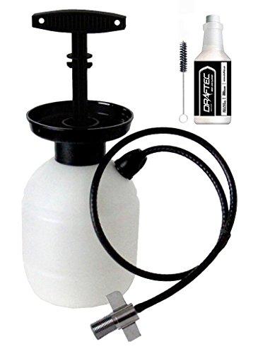 Draftec DTPCKCLR Deluxe Hand Pump Pressurized Keg Beer Kegerator Cleaning Kit with 32 oz. Cleaner (Pressurized Kegs)