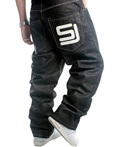 Hop Discoteca Moda Hip Vintage Casual Giovane Classica Di Stile Larghi Uomo Colour Da Jeans Pantaloni xqnwB7pT8n