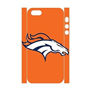 Qxhu Broncos patterns Durable Rubber Silicon Case Cover for Iphone5,5S 3D case