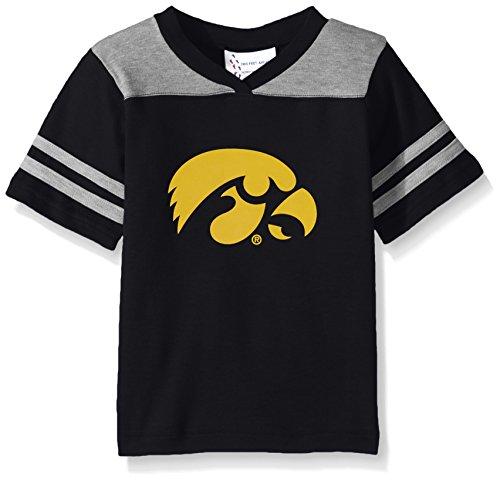 Black Iowa Hawkeyes Football Jersey - Two Feet Ahead NCAA Iowa Hawkeyes Toddler Boys Football Shirt, Black, 4