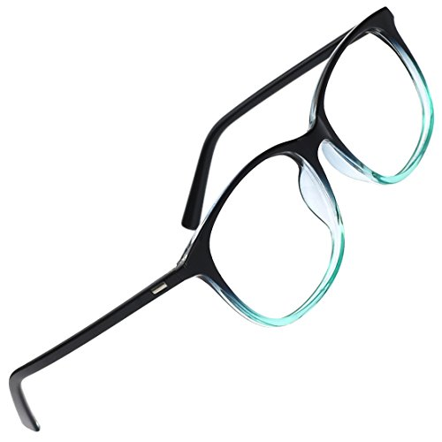 Slocyclub Unisex Oversized Non-prescription Glasses Round Clear Lens Eyeglasses