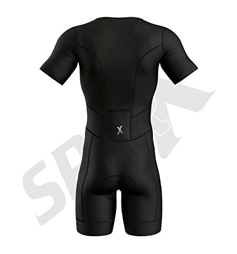 Sparx Men Elite Aero Short Sleeve Triathlon Suit Skinsuit Team Tri Suit Swim Bike Run