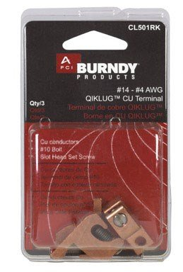 LAY-IN LUG CU #14-4 by BURNDY MfrPartNo CL501RK