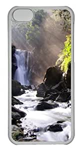 iPhone 5C Case,Nei Dong Waterfall PC Hard Plastic Case for iPhone 5C Transparent