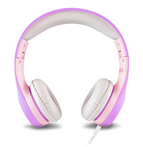 Nenos Children Headphones Kids Headphones Children's Headphones Over Ear Headphones Kids Computer Volume Limited Headphones Kids Foldable (Lavender)