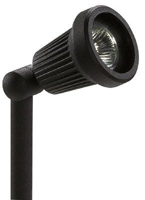 Paradise GL22724BK Low-Voltage Cast-Aluminum 20-Watt Halogen Floodlight with Glass Lens, Black