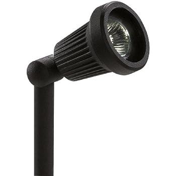 Sterno Home GL22724BK Paradise Low Voltage Cast Aluminum 20-Watt Spot Light with Glass Panel, Black