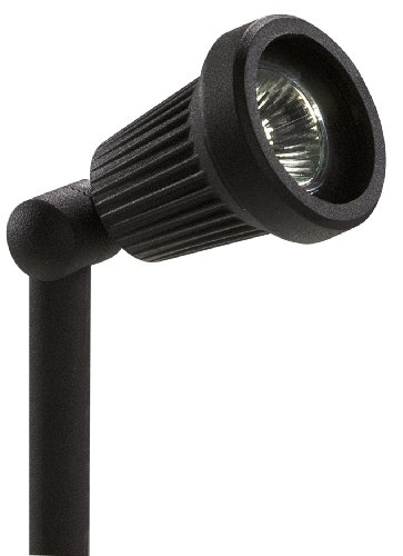 Paradise GL22724BK Low-Voltage Cast-Aluminum 20-Watt Halogen Floodlight with Glass Lens, Black