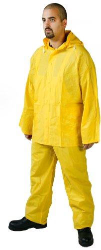 (Diamond 1020 PVC Industrial Waterproof/Chemical Resistant Medium Weight 3 Piece Rain Suit, 5X-Large, Yellow)