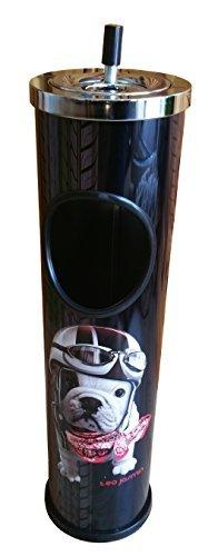 Standaschenbecher teo jasmin pink oder schwarz, Stehascher, Aschenbecher Bulldogge (schwarz)