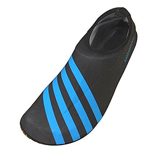 79cab8da03 Aqua Water Sports Socken Haut Schuhe für Strand Fitness Yoga Scuba Lauf Gym  Blau Schwarz