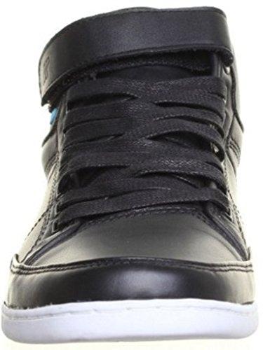 NEU!! Boxfresh Swich Herren Leder Schuhe Boots Sneaker Größe 40 - 46 Schwarz (42, Schwarz)