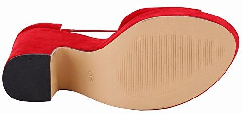 Salabobo Salabobo Plateforme Sandales Sandales red femme Sq766P