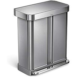 Amazon.com: Cubo de basura rectangular de simplehuman para ...